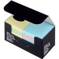 アスクル ふせん 貼ってはがせるオフィスのノート 50×50mm カラー4色 10冊