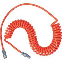 トラスコ中山 TRUSCO ウレタンコイルホース 2.4m オレンジ UCH3 1セット(1本入) 104ー2262 (直送品)