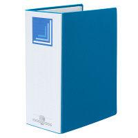 ハピラ 片開きパイプ式ファイル A4タテ とじ厚100mm ブルー SG03549 1箱(24冊:12冊入×2箱)