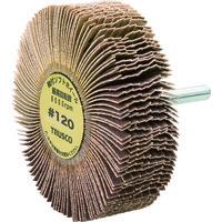 トラスコ中山 TRUSCO 軸付ソフトホイール 外径80X厚25X軸6 5個入 120# YS825 117ー7168 (直送品)