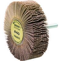 トラスコ中山(TRUSCO) 軸付ソフトホイール 外径80X厚25X軸6 40# (5個入) YS825 40 1箱(5個) 117-7125 (直送品)