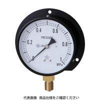 右下精器製造 右下 一般圧力計(B枠立型・φ100) 圧力レンジ0.0〜10.00MPa G421-211-V-10MP 1個 326-0216 (直送品)