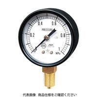 右下精器製造 右下 一般圧力計(A枠立型・φ60) 圧力レンジ0〜0.50MPa G211-111-M-0.5MP 1個 325-9404 (直送品)