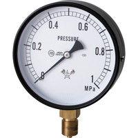 右下精器製造 右下 スター (圧力計)(A枠立型・φ100) 圧力レンジ0.0〜1.00MPa S-41-1MP 1個 321-4192(直送品)