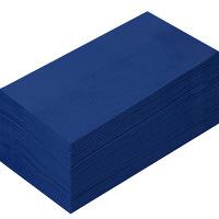 溝端紙工印刷 カラーナプキン 8つ折り 2PLY ネイビー 1袋(50枚入)