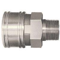 日東工器 TSPカプラ 鋼鉄製 ニトリルゴムSG(NBR) 12TSM 1個 113-9801 (直送品)