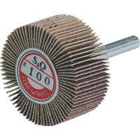 ムラコ MURAKO 軸付フラップ金具無し外径40幅20軸径6mm 240# KN4020 1セット(10枚:1枚入×10) 326ー3592 (直送品)