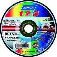 切断研削研磨砥石 ノートン1-2-3 100 2TW100123LBA22-46 1セット(10枚) 325-5085 (直送品)