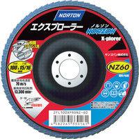 サンゴバン NORTON フラップディスク エクスプローラーノルゾン 60# 2FL100XPRDNZ 1セット(10枚入) 322ー3604 (直送品)