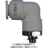 千代田通商 チヨダ ファイブメイルエルボ W(白)6mm・M5X0.8 F6-M5MLW 1個 158-4731 (直送品)