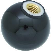 トラスコ中山 TRUSCO 樹脂製握り玉 芯金付 黒 Φ25XM6mm PTPC256BK 1個 337ー4190 (直送品)