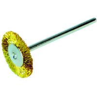バーテック(BURRTEC) ワイラーミニチュアホイルブラシ真鍮0.07 12614400 1袋(5本) 353-1082 (直送品)