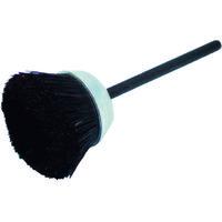 バーテック(BURRTEC) ワイラーミニチュアカップブラシ黒馬毛 12650300 1袋(5本) 353-1112 (直送品)