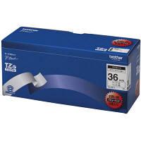 ブラザー ピータッチテープ ラミネート 36mm 白テープ(黒文字) 1パック(5個入) TZe-261V