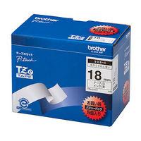 ブラザー ピータッチテープ ラミネート 18mm 白テープ(黒文字) 1パック(5個入) TZe-241V