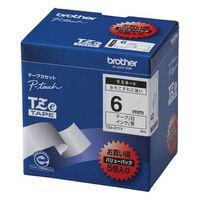 ブラザー ピータッチテープ ラミネート 6mm 白テープ(黒文字) 1パック(5個入) TZe-211V