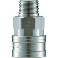 長堀工業 ナック クイックカップリング TL型 ステンレス製メネジ取付用 CTL16SM3 1個 364ー5681 (直送品)