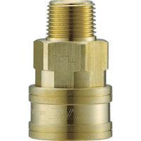 長堀工業 ナック クイックカップリング TL型 真鍮製メネジ取付用 CTL10SM2 1個 364ー5436 (直送品)