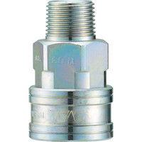 長堀工業 ナック クイックカップリング TL型 鋼鉄製メネジ取付用 CTL04SM 1個 364ー4987 (直送品)