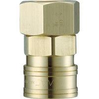 長堀工業 ナック クイックカップリング AL40型 真鍮製 オネジ取付用 CAL46SF2 1個 364-3425 (直送品)