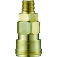 長堀工業 ナック クイックカップリング AL20型 真鍮製 メネジ取付用 CAL22SM2 1個 364-2704 (直送品)