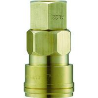 長堀工業 ナック クイックカップリング AL20型 真鍮製 オネジ取付用 CAL22SF2 1個 364-2640 (直送品)