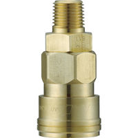 長堀工業 ナック クイックカップリング AL20型 真鍮製メネジ取付用 CAL23SM2 1個 364ー2925 (直送品)