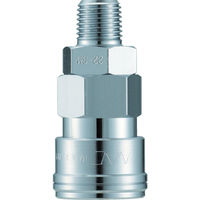 長堀工業 ナック クイックカップリング AL40型 鋼鉄製メネジ取付用 CAL44SM 1個 364ー3298 (直送品)