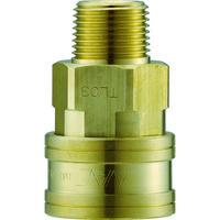 長堀工業 ナック クイックカップリング TL型 真鍮製 メネジ取付用 CTL03SM2 1個 364-4839 (直送品)