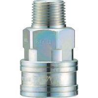 長堀工業 ナック クイックカップリング TL型 鋼鉄製メネジ取付用 CTL08SM 1個 364ー5304 (直送品)