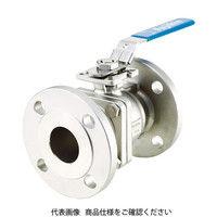フジキン(Fujikin) ステンレス鋼製1MPaフランジ式2ピースボール弁100A(4) UBV-21-J10R-M-ALX 365-5555 (直送品)