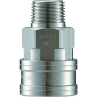 長堀工業 ナック クイックカップリング TL型 ステンレス製メネジ取付用 CTL08SM3 1個 364ー5321 (直送品)