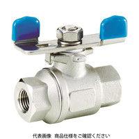 フジキン(Fujikin) ステンレス鋼製3.92MPaフルボアタイプボール弁25A(1) UBVNF-14F-BU-R 1個 365-5776 (直送品)