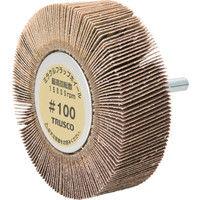 トラスコ中山 TRUSCO ミラクルフラップホイール 外径80X厚25X軸6 5個入 100# MR8025 172ー9926 (直送品)