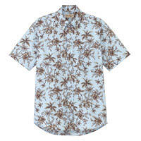 FACE MIX(フェイスミックス) ユニセックス 小さいサイズ 半袖アロハシャツ ブルー SS FB4516U (直送品)