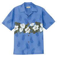 FACE MIX(フェイスミックス) 事務服 ユニセックス 小さいサイズ 半袖アロハシャツ ブルー SS FB4517U (直送品)