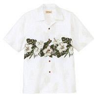 FACE MIX(フェイスミックス) ユニセックス 大きいサイズ 半袖アロハシャツ ホワイト 4L FB4517U (直送品)