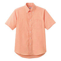 FACE MIX(フェイスミックス) 事務服 ユニセックス 半袖シャツ オレンジ L FB4511U (直送品)
