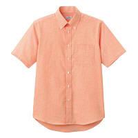 FACE MIX(フェイスミックス) 事務服 ユニセックス 大きいサイズ 半袖シャツ オレンジ LL FB4511U (直送品)