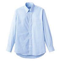 FACE MIX(フェイスミックス) 事務服 ユニセックス 大きいサイズ 長袖シャツ ブルー LL FB4506U (直送品)