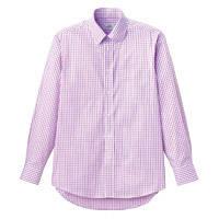FACE MIX(フェイスミックス) 事務服 ユニセックス 大きいサイズ 長袖シャツ パープル LL FB4506U (直送品)