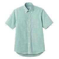FACE MIX(フェイスミックス) 事務服 ユニセックス 小さいサイズ 半袖シャツ グリーン SS FB4507U (直送品)