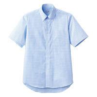 FACE MIX(フェイスミックス) 事務服 ユニセックス 半袖シャツ ブルー L FB4507U (直送品)