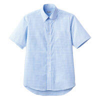 FACE MIX(フェイスミックス) 事務服 ユニセックス 大きいサイズ 半袖シャツ ブルー LL FB4507U (直送品)