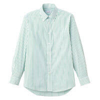FACE MIX(フェイスミックス) 事務服 ユニセックス 大きいサイズ 長袖シャツ グリーン 3L FB4508U (直送品)