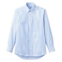 FACE MIX(フェイスミックス) 事務服 ユニセックス 大きいサイズ 長袖シャツ ブルー LL FB4508U (直送品)
