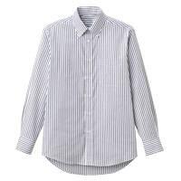 FACE MIX(フェイスミックス) 事務服 ユニセックス 大きいサイズ 長袖シャツ ブラック 3L FB4508U (直送品)