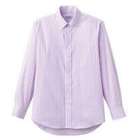 FACE MIX(フェイスミックス) ユニセックス 大きいサイズ 長袖シャツ パープル LL FB4508U (直送品)