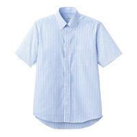 FACE MIX(フェイスミックス) 事務服 ユニセックス 大きいサイズ 半袖シャツ ブルー 4L FB4509U (直送品)