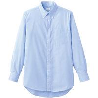 FACE MIX(フェイスミックス) 事務服 メンズ 大きいサイズ 長袖シャツ ブルー 3L FB5017M (直送品)